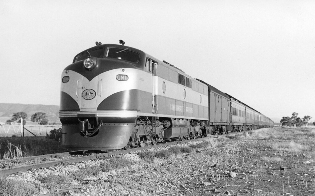 cme134 - GM1 locomotive hauling passenger train at 29 Miles on straight by Chris