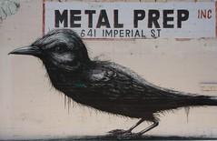 art, street art, raven, crow, drawing, black, bird,