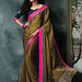 Brown Embroidery Dazzling Bordered Saree Sarees on Shimply.com