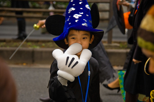 "Mickey Mouse ""sorcerer's apprentice"" picking nose"
