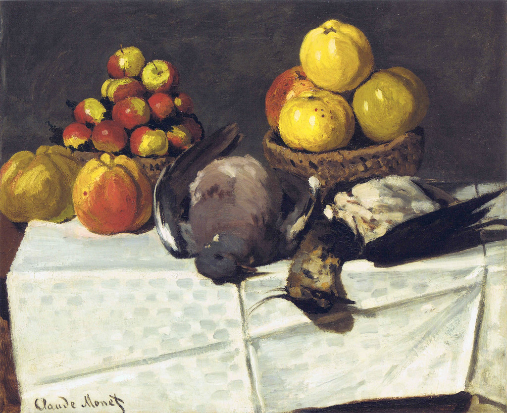 W 102 - Claude Monet: Nature morte, oiseaux et fruits (1867)
