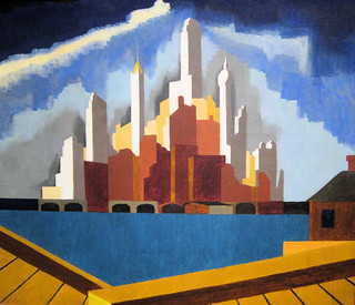Lower Manhattan - 1934 New Deal Painting at Smithsonian American Art Museum
