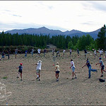 The ring of fire at the 2002 Pawnee Gulch Classic in Leadville, Colorado.