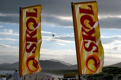 banner, signage, yellow, wind, advertising,