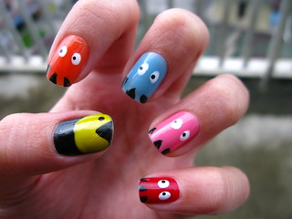 Unhas Decoradas - Pac Man