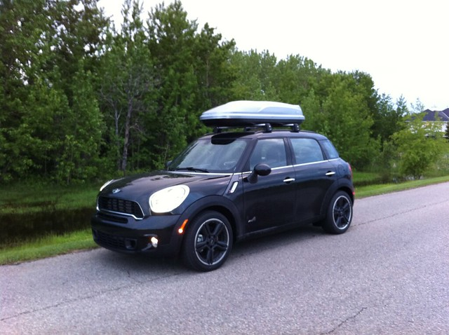 mini countryman roof rack and roof box flickr photo sharing. Black Bedroom Furniture Sets. Home Design Ideas