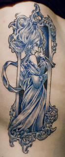 mucha in blue