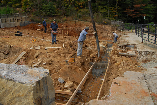 Pouring Concrete Footings for Gate Cottage   Toccoa Falls