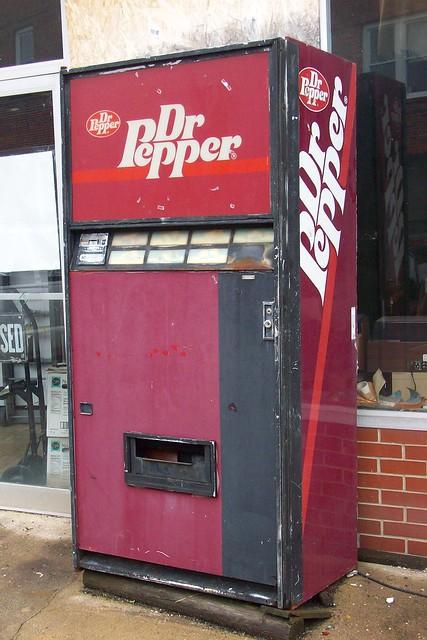 dr pepper soda machine