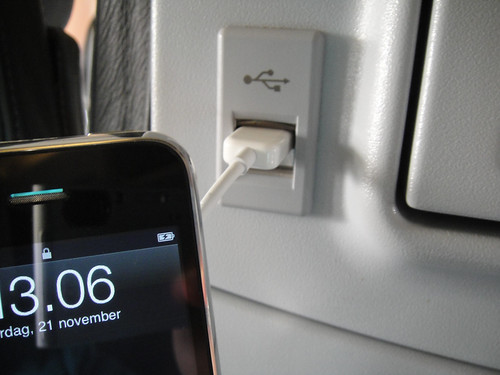 Charging iPhone on airplane