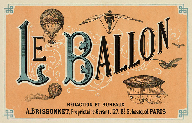 Le Ballon, advertising for French aeronautical journal, ca. 1883