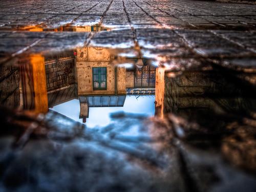 california usa reflection water rain stone puddle back losangeles los angeles echo lot olympus cobble cobblestone universal studios reflexion breathtaking ep1 universalstudiosbacklot breathtakinggoldaward breathtakinghalloffame