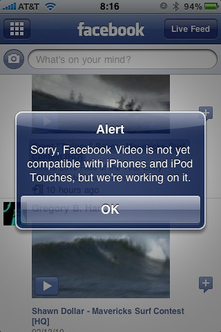 When will Facebook give respect to iPhone users? We demand full functionality now!