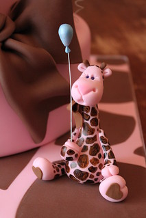 Pink and brown giraffe