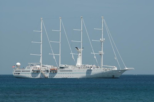 Wind Star cruise ship moored in Costa Rica by D70