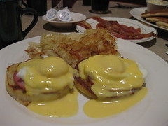 fried food(0.0), meal(1.0), breakfast(1.0), brunch(1.0), meat(1.0), food(1.0), full breakfast(1.0), dish(1.0), eggs benedict(1.0), cuisine(1.0),