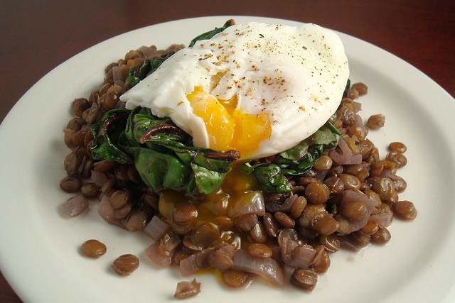 Braised Lentils with Swiss Chard and a Poached Egg | Flickr - Photo ...