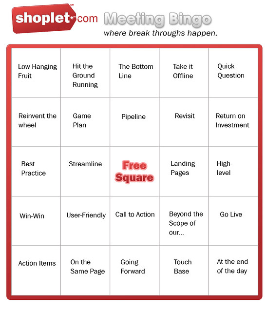 meeting bingo