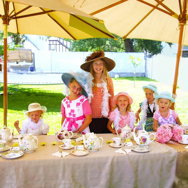 a children 39 s dress up tea party flickr photo sharing. Black Bedroom Furniture Sets. Home Design Ideas