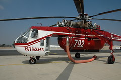 aircraft, aviation, helicopter rotor, helicopter, sikorsky s-64 skycrane, vehicle,