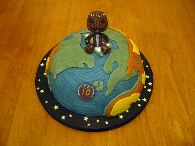 Planet Cake Images : 27 - Little Big Planet Cake Flickr - Photo Sharing!