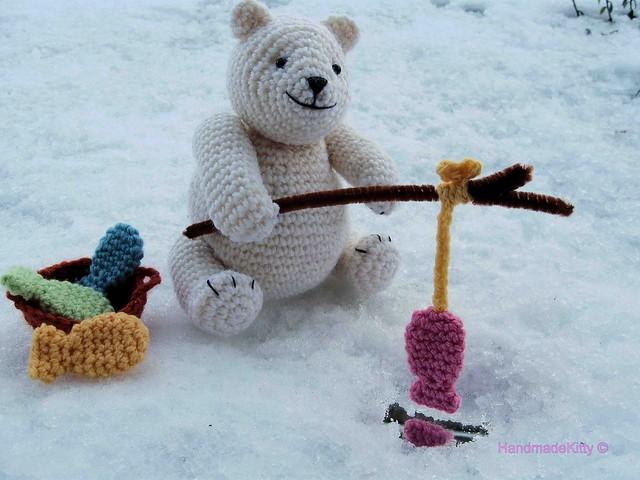 Free Amigurumi Crochet Patterns Fox : Amigurumi Polar Bear Out Fishing Crochet Pattern - a photo ...