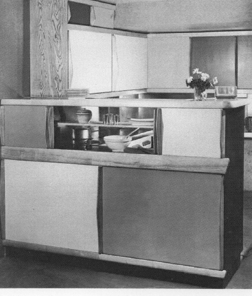 Projet de cuisine-bar pour la cellule de l'Unité d'habitation - Marseille 1947