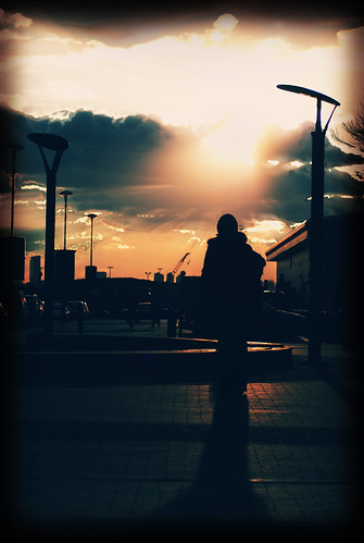 sunset silhouette sony 300 alpha leyton
