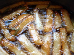 Making Duck Fat French Fries with Rosemary, Maldon Salt, and Truffle Oil
