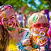 Standford holi festival : Mom and daughter by tibchris