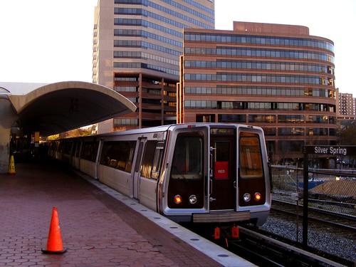 Orange Cone at Silver Spring Metro