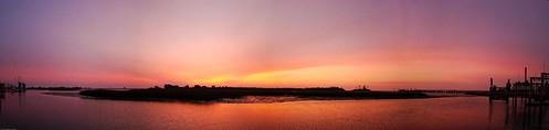 water sunrise marsh intercoastalwaterway