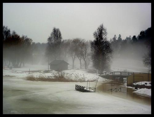 world trees white house mist snow ice nature water beautiful misty fog forest port finland landscape frozen dream porvoo finlândia abigfave
