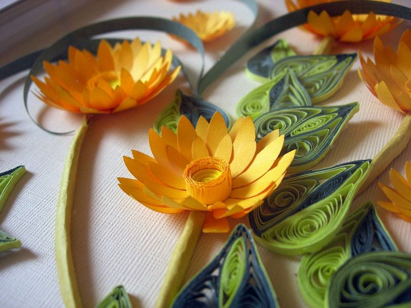 Quilling Paper Flowers Quilling Paper Picture Flowers