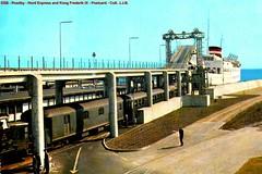 DSB - Roedby - Kong Frederik IX & Nord Express - Postcard