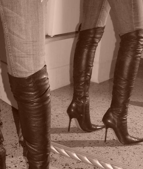 thigh high boots flickr photo