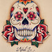 Small photo of Sugar Skull - Coloured
