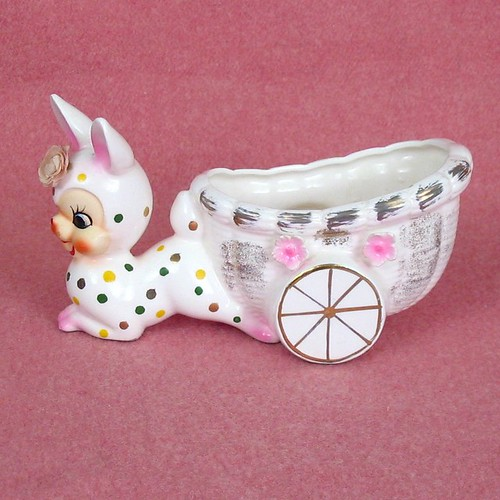 Wacky Bunny Cart Planter - Vintage by TipsyTimeMachine