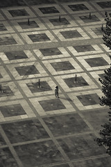 Sola en la plaça