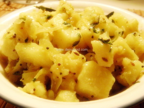 how to prepare potato bhaji