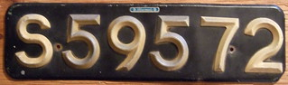 SOUTHERN RHODESIA, SALISBURY 1931-58 SERIES ---PASSENGER plate