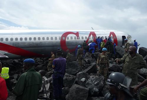 Crash d'un avion de la compagnie CAA à Goma 3