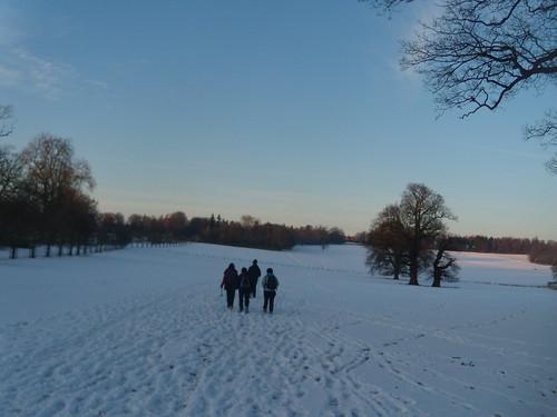 On through the snow