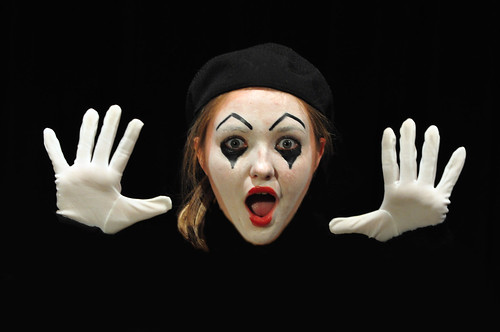 """Emily as Mime in """"Check Please"""""""