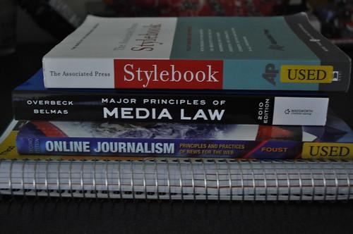 this semester's books.