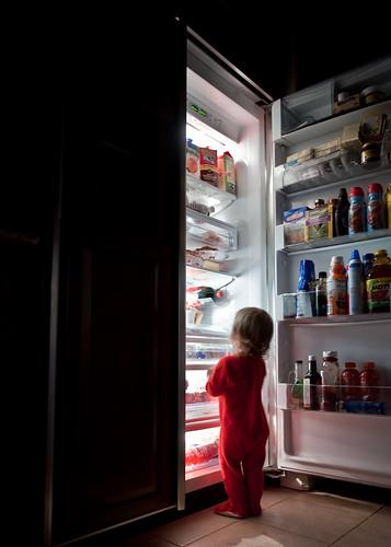 fridge light midnight snack