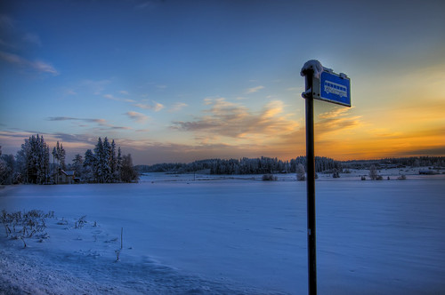trees winter sunset snow tree nature field forest canon suomi finland landscape evening countryside frozen scenic freezing busstop talvi hdr 2010 lappeenranta canonefs1022mmf3545usm photomatix 50d tonemapped