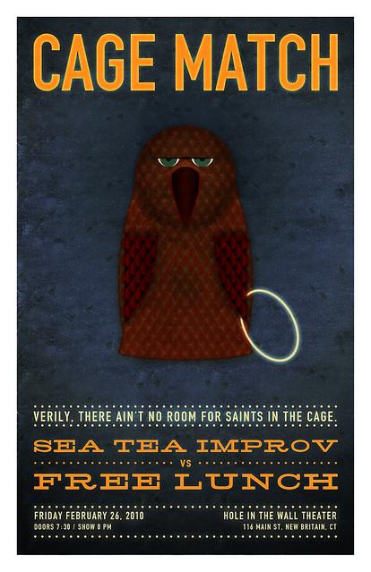 Sea Tea Improv Cage Match Poster