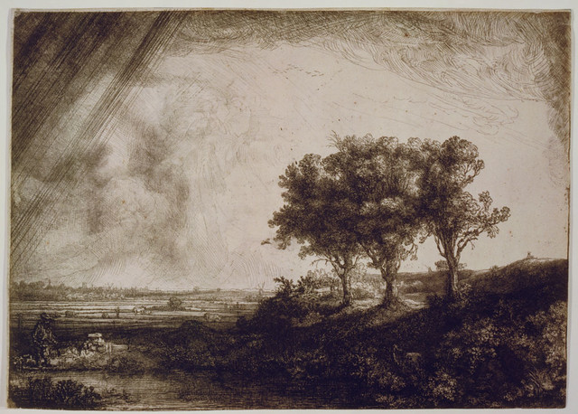 The Three Trees Loc Rembrandt Harmenszoon Van Rijn