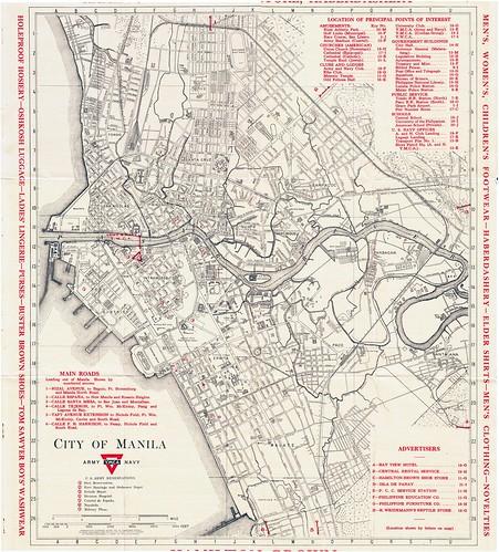 Complete YMCA 1934 Manila map